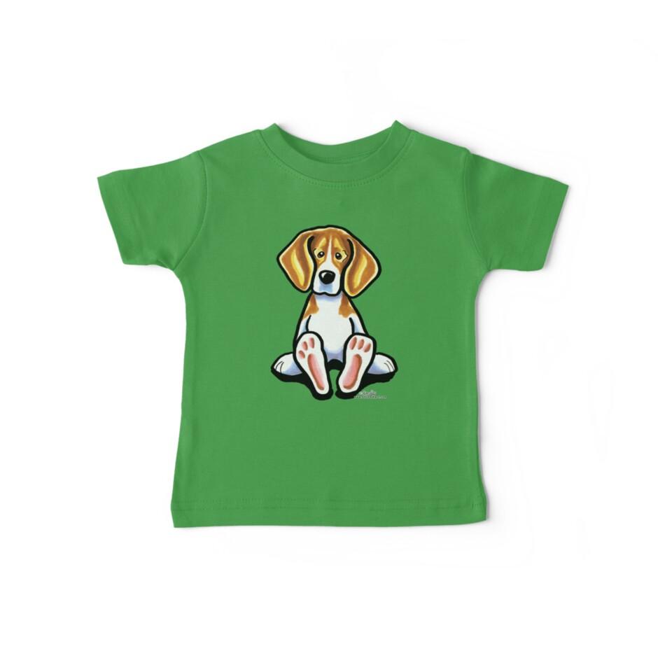 Big Feet Beagle by offleashart