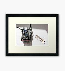 yashica & cat eyes Framed Print