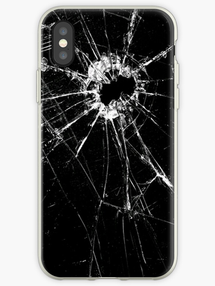 low priced 0e278 d042a 'Broken Screen' iPhone Case by cooljules