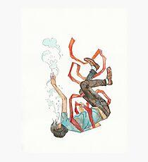 Burdened - sinking swimming ribbon  Photographic Print