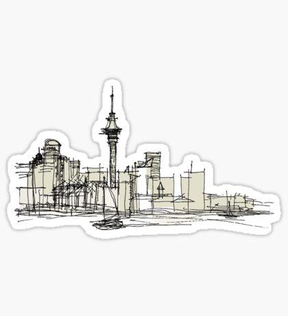 Auckland Silhouette Sticker