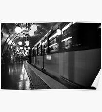 Travel BW - Paris Metro Poster