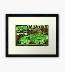 Tarantula - Mechanized Infantry Support Framed Print