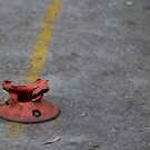 Destroyed parking marker by GoldZilla