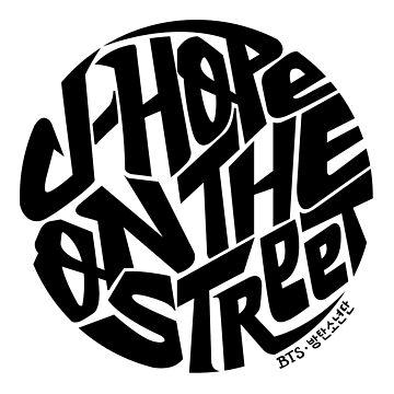 J-Hope - BTS Member Logo Series (Black) by Dandimator