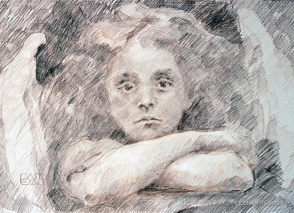 Sad Angel by Lorenzo Castello