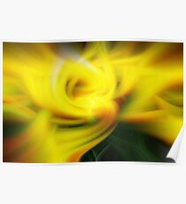 Yellow Tulip in Abstract Poster