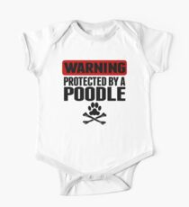 Warning Protected By A Poodle One Piece - Short Sleeve