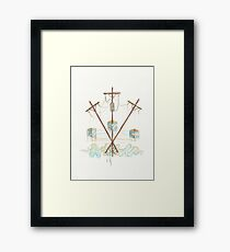 Telephone Lines - internet networking cell phone Framed Print