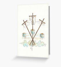 Telephone Lines - internet networking cell phone Greeting Card