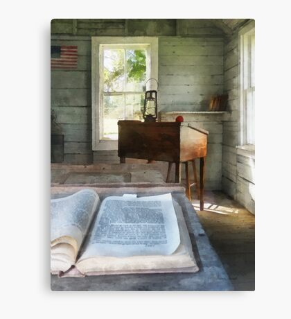 One Room Schoolhouse with Book Canvas Print