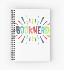 A SPLASH OF BOOKNERD (COLORED) Spiral Notebook