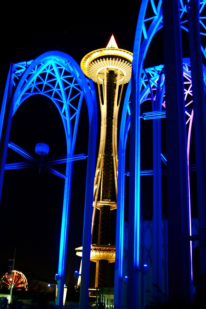 Quot Space Needle At Night Seattle Washington Quot By Tiffany Muff