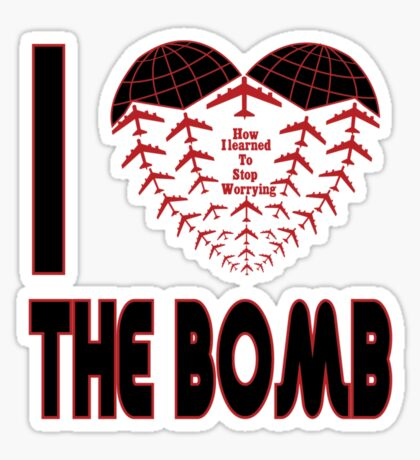 I love the bomb Sticker