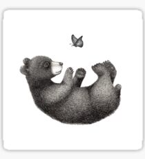 The bear and the butterfly Sticker
