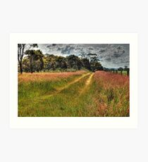 A Country Track #2 Art Print