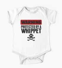 Warning Protected By A Whippet One Piece - Short Sleeve
