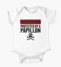 Warning Protected By A Papillon One Piece - Short Sleeve