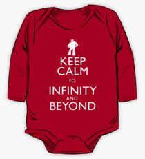 """KEEP CALM TO INFINITY AND BEYOND"" One Piece - Long Sleeve"