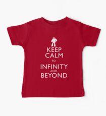 """KEEP CALM TO INFINITY AND BEYOND"" Baby Tee"