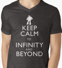 """""""KEEP CALM TO INFINITY AND BEYOND"""" Men's V-Neck T-Shirt"""