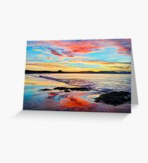 Reflections on a day gone by - Byron Bay Greeting Card
