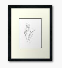 Type Hand Framed Print