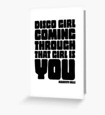 Disco Girl Gravity Falls Greeting Card
