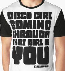 Disco Girl Gravity Falls Graphic T-Shirt