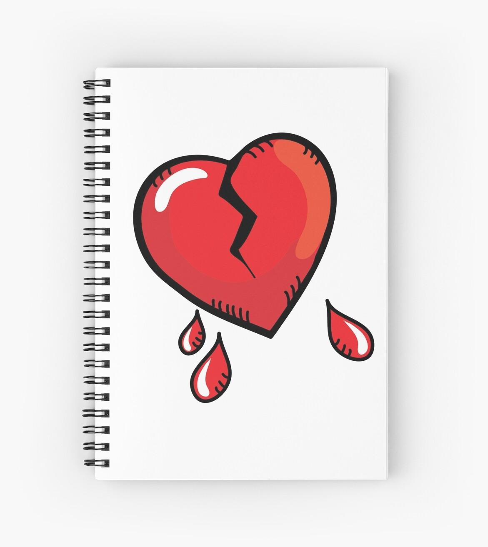 Cuaderno De Espiral Dibujos Animados De Corazón Roto De