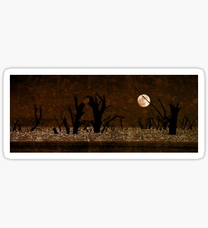 Under the Full Moon the Dead Trees Dance Sticker