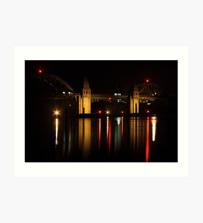 Siuslaw River Bridge Reflections Art Print