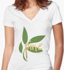 TK Alum Pine Women's Fitted V-Neck T-Shirt