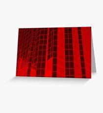 Matrix Red Greeting Card