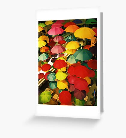 All Dry Indoors Greeting Card
