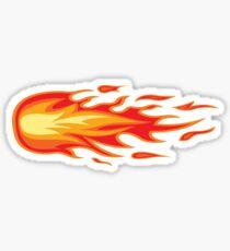 Flames for a crazy helmet Sticker