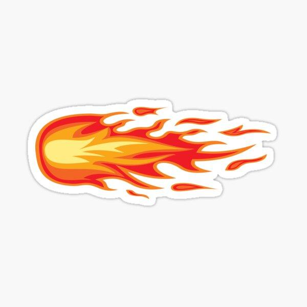 S FLAMES decal for bike helmet hot rod rat race car or motorcycle trailer