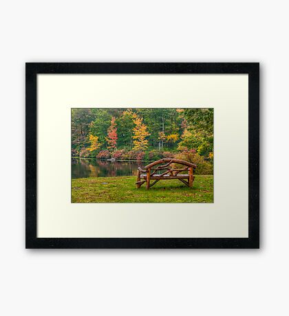 Park Bench With a View  Framed Print