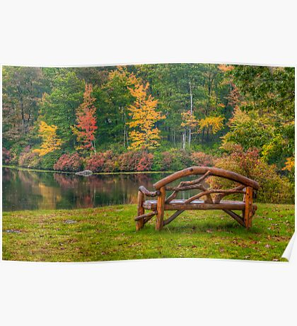 Park Bench With a View  Poster