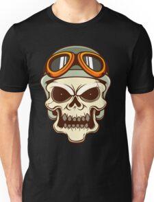 Funny biker skull Unisex T-Shirt