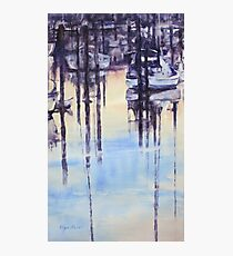 Tranquil evening in marina Photographic Print