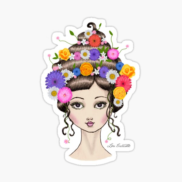 Floral She Sticker