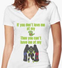 Zygarde - If you don't love me at my Core Fitted V-Neck T-Shirt