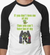 Zygarde - If you don't love me at my Core Baseball ¾ Sleeve T-Shirt