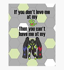 Zygarde - If you don't love me at my Core Photographic Print