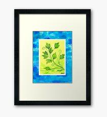 SPRING - BRUSH AND GOUACHE Framed Print