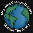 """New Dad Father """"Men Who Change Diapers Change The World"""" Father's Day Dark by FamilyT-Shirts"""