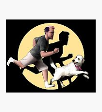 Markiplier and Chica (TinTin style) Photographic Print