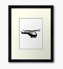 Helicopter pilot aviation Framed Print