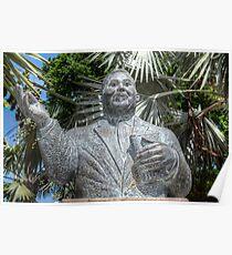 His Excellency Sir Milo Boughton Butler Statue in Nassau, The Bahamas Poster